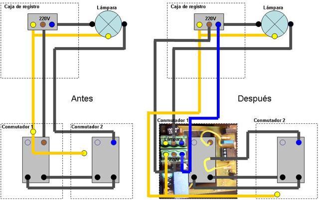 Minidimmer controlado por mando infrarrojos micropic - Instalar interruptor conmutador ...