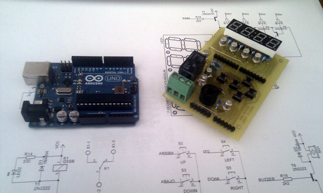 Arduino 7-seg Shield y Arduino