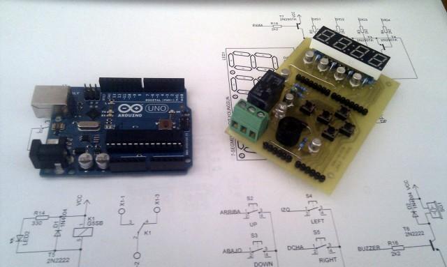 Arduino 7-seg Shield y Arduino