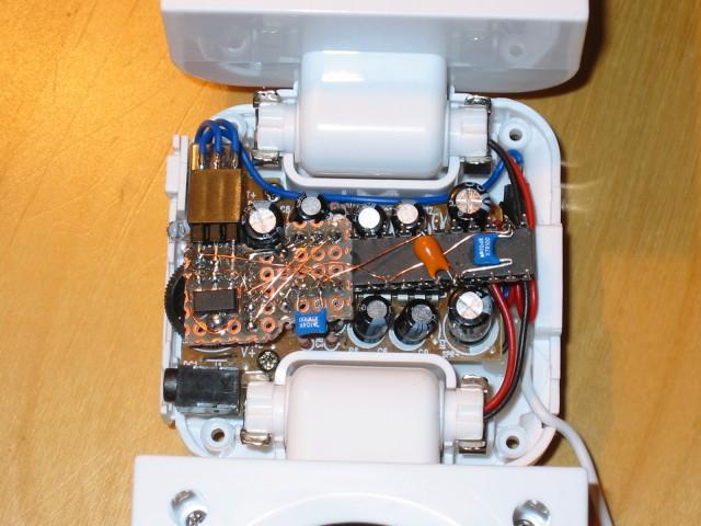 MusicBox montada en altavoces