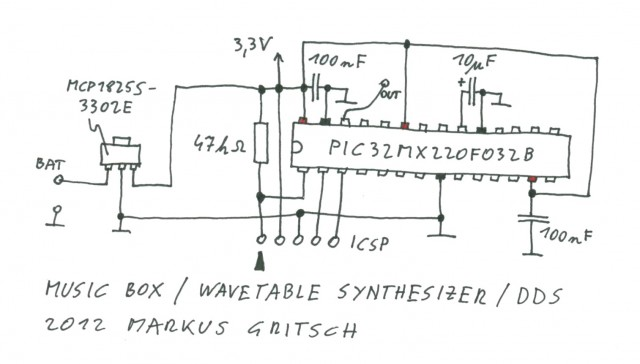 Esquemático MusicBox