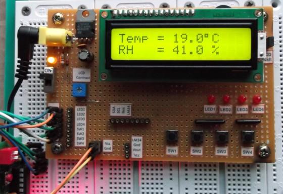 Lectura de temperatura y humedad con DHT11